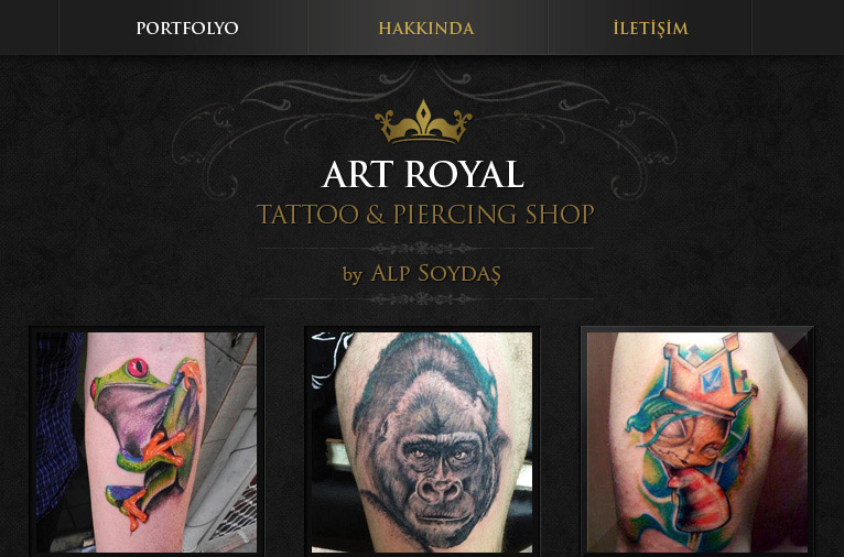 Tattoo Shop Logo, Kartvizit ve Website